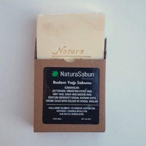 natura sabun badem yağı sabunu kutulu