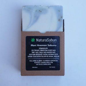natura sabun kutulu mavi anemon sabunu