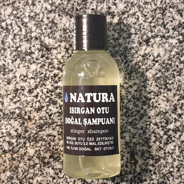 seyahat boyu doğal şampuan