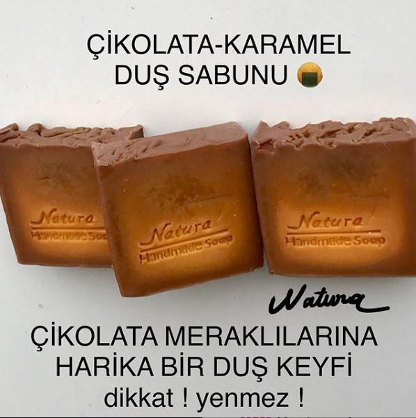 çikolata karamelli duş sabunu